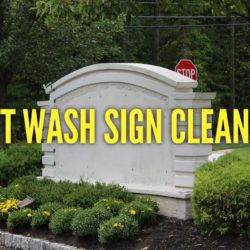 Sign cleaning south jersey